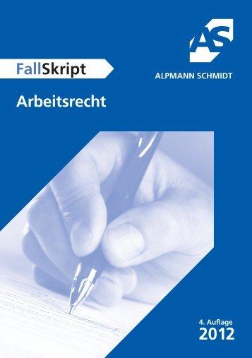 FS ArbeitsR (6).indd - Alpmann Schmidt