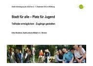 Präsentation Stadt für alle - Platz für Jugend - Agjä