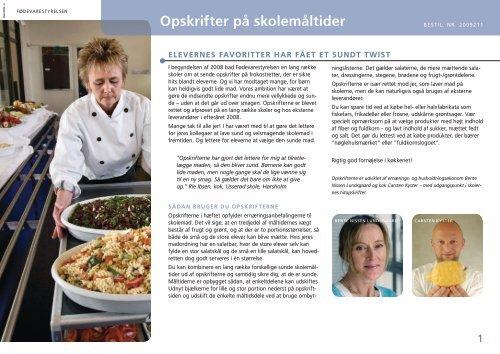 Opskrifter pá skolemáltider - Alt om kost