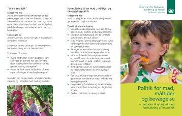 Politik for mad, måltider og bevægelse - Alt om kost
