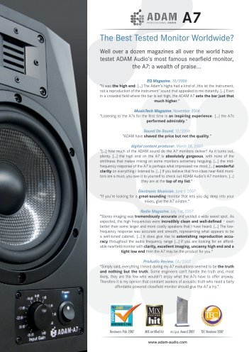 The Best Tested Monitor Worldwide? - American Musical Supply