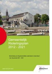Gemeentelijk Rioleringsplan (GRP IV). - Gemeente Amersfoort