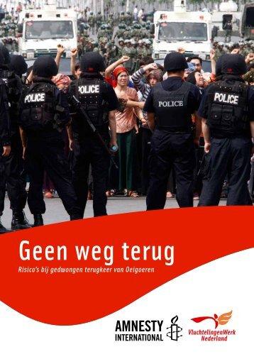 Geen weg terug - Amnesty International