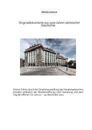 Meilensteine Originaldokumente aus 1000 ... - Freistaat Sachsen
