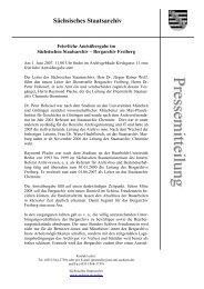 Sächsisches Staatsarchiv - Archivwesen