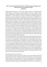 """1 OAIS – Das """"Open  Archival Information System"""": Ein - Archivwesen"""