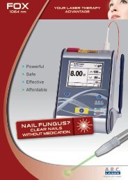 FOX III for nail fungus (PDF 2 9 - ARC Laser