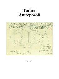 Forum Antroposofi - Antroposofiska sällskapet