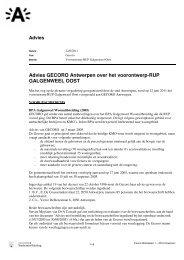 Advies GECORO Antwerpen over het voorontwerp ... - Stad Antwerpen
