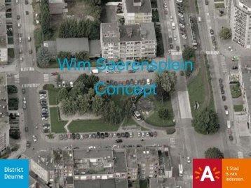 Presentatie concept Wim Saerensplein ( pdf ) (3,78 ... - Antwerpen.be