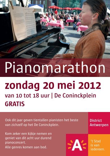 Pianomarathon - Stad Antwerpen