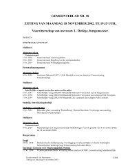 Verslag gemeenteraad 18/11/2002 ( pdf ) - Antwerpen.be