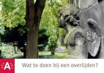 Wat te doen bij een overlijden - Antwerpen.be