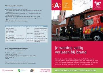 Je woning veilig verlaten bij brand - Antwerpen.be