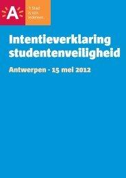 Intentieverklaring studentenveiligheid - Stad Antwerpen