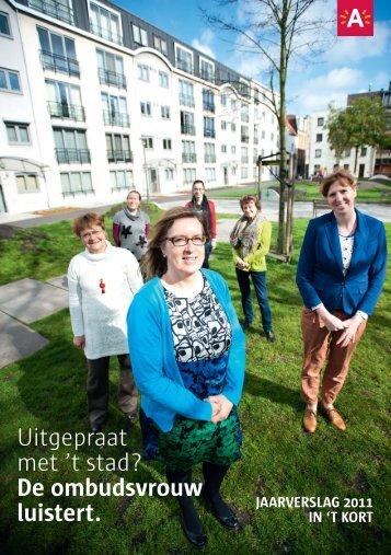 Ombudsvrouw - jaarverslag 2011 - kort ( pdf ) - Stad Antwerpen