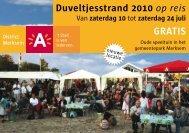 Duveltjesstrand 2010 op reis GRATIS - Stad Antwerpen