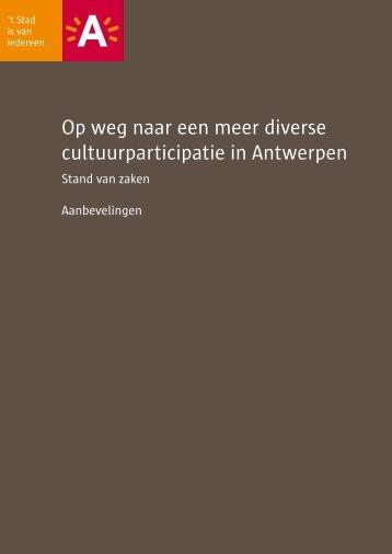 Op weg naar een meer diverse cultuurparticipatie ... - Stad Antwerpen