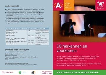 folder CO herkennen en voorkomen - Stad Antwerpen