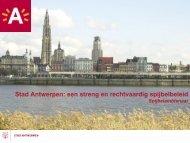 Het stedelijk veiligheidsbeleid - Stad Antwerpen