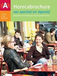 Horecabrochure van aperitief tot digestief - Stad Antwerpen