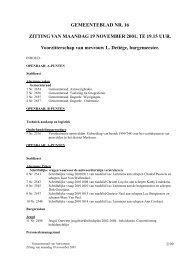 Verslag gemeenteraad 19/11/2001 ( pdf ) - Stad Antwerpen