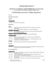 Verslag gemeenteraad 18/12/2001 ( pdf ) - Antwerpen.be