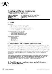 verslag wijkforum fietsen 10/2010 ( pdf ) - Stad Antwerpen