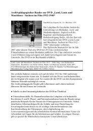 """Archivpädagogischer Reader zur DVD """"Land, Leute und Maschinen ..."""