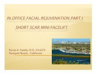 in office facial rejuvenation part i short scar mini-facelift