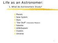 Life as an Astronomer: - NRAO