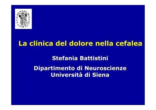 La clinica del dolore nella cefalea
