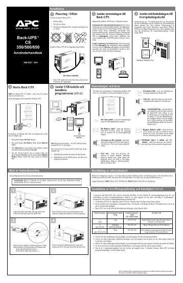 Back-UPS™ 350/500/650 CS - APC Media