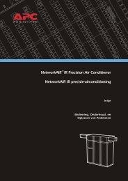 NetworkAIR™ IR Precision Air Conditioner NetworkAIR ... - APC Media
