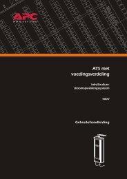 ATS met voedingsverdeling - APC Media