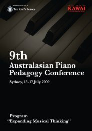 Contents - 11th Australasian Piano Pedagogy Conference