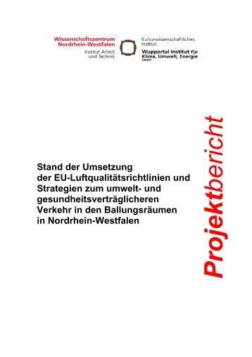 Projekt bericht - APUG NRW - Landesregierung Nordrhein-Westfalen