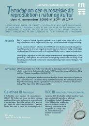 emadag om den europæiske åls reproduktion i natur ... - AquaCircle