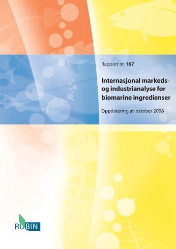 Internasjonal markeds- og industrianalyse for biomarine ingredienser