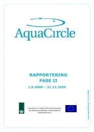 rapportering fase ii 1.9.2008 – 31.12.2009 - AquaCircle