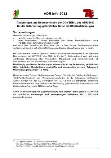 ADR Info 2013 - TU Berlin