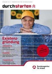 Durchstarten Existenzgründung 2012 - Bundesagentur für Arbeit
