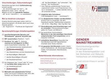 Geschlechtergerechter Sprachgebrauch in der Arbeitsinspektion ...