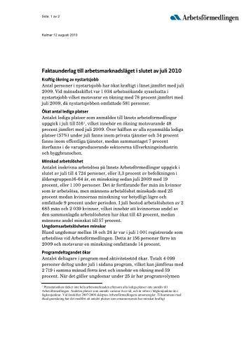 Faktaunderlag - Arbetsförmedlingen