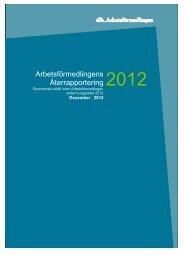 Ekonomiskt utfall inom Arbetsförmedlingen budgetåret 2012