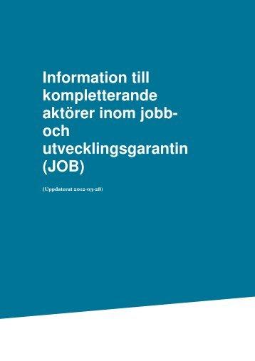 JOB - Arbetsförmedlingen
