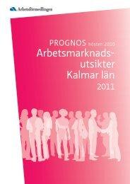 Prognos över arbetsmarknadsutsikterna i Kalmar län 2010-2011