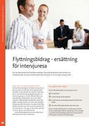 Flyttningsbidrag - ersättning för intervjuresa - Arbetsförmedlingen