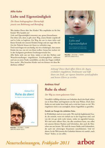 Neuerscheinungen Frühjahr 2011 als PDF - Arbor Verlag