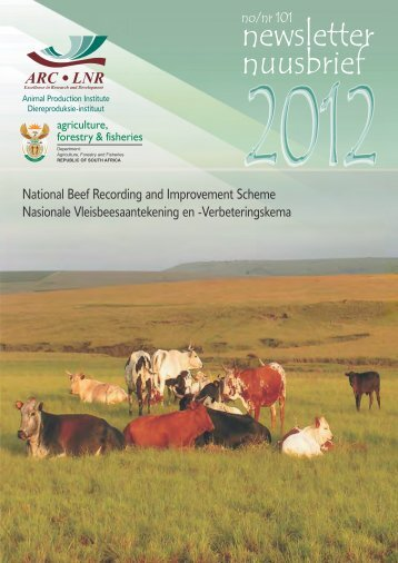 newsletter nuusbrief - Agricultural Research Council